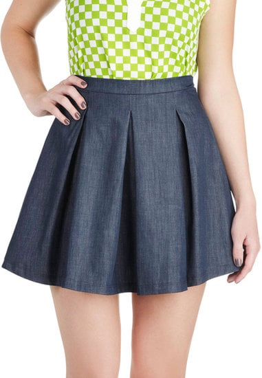 Add Converse to this girlie ModCloth Ever So Pleats Skirt ($33) for a riff on classic back-to-school style.