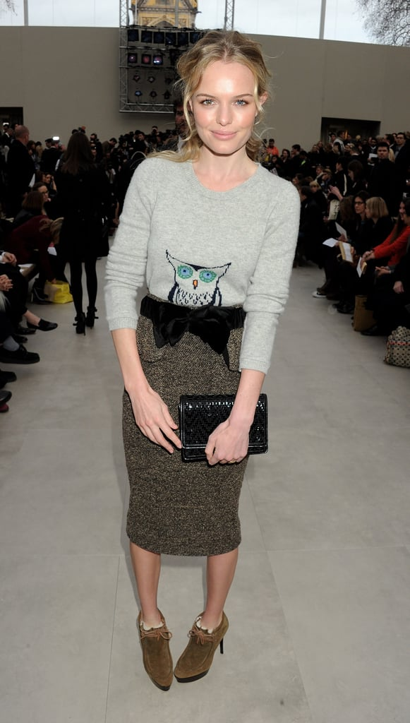 Kate Bosworth flew to the UK for London Fashion Week.