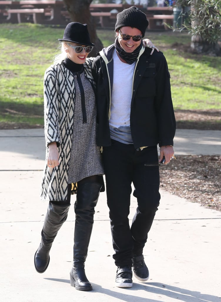 The duo shared a laugh during a couple's outing in LA in December 2012.