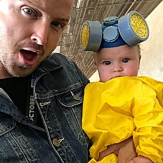 Aaron Paul's Daughter Wears Hazmat Suit at Comic-Con