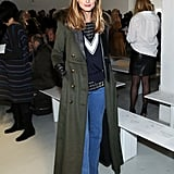 She later rocked a pair of flares at Misha Nonoo, making us want to trade in our skinnies, stat!