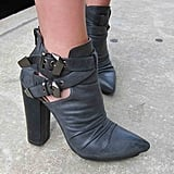 The woman who walks into Grant Park in these Jeffrey Campbell high-heeled booties is a woman we want to hang out with.
