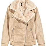 H&M Faux Fur-Lined Biker Jacket ($50)