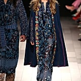 She Opened the Anna Sui Show in This Bohemian Dress