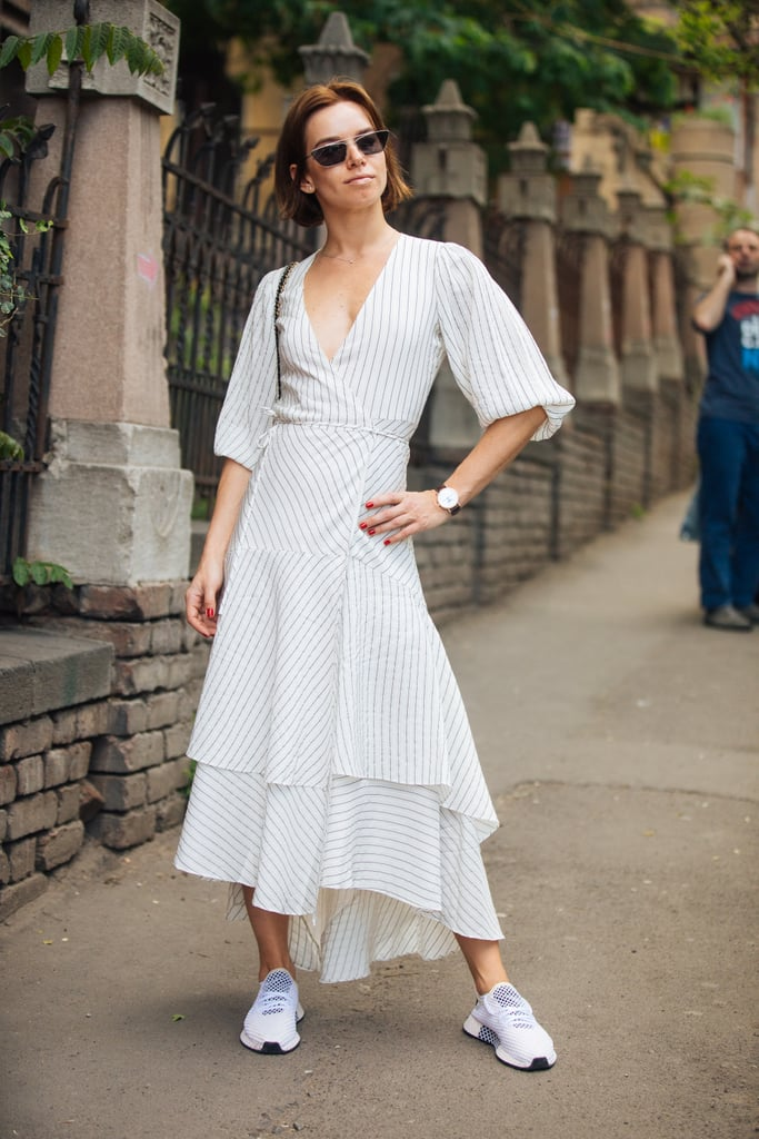 Make Your Summery Dresses Cool With Sporty Sneakers