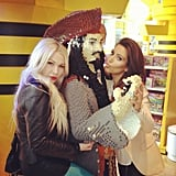 Kim Kardashian got up close and personal with a Lego pirate. Source: Instagram user kimkardashian