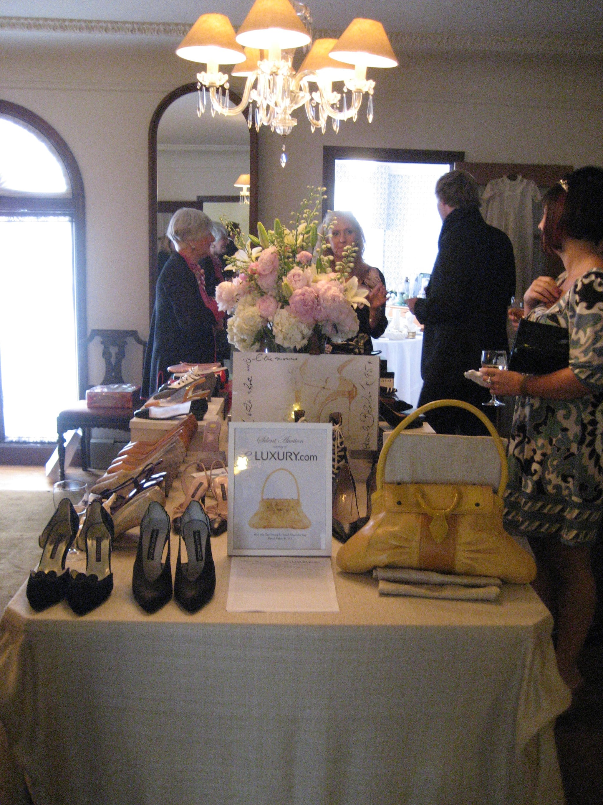 Couture dress and footwear room.
