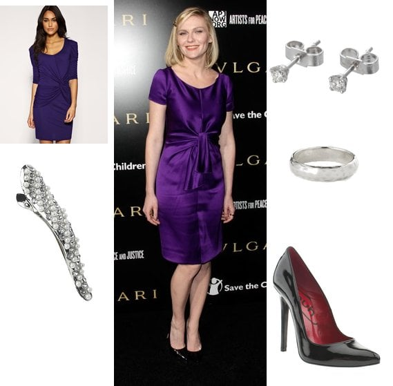 Copy Kirsten Dunst's Purple Dress Style at Save the Children Benefit
