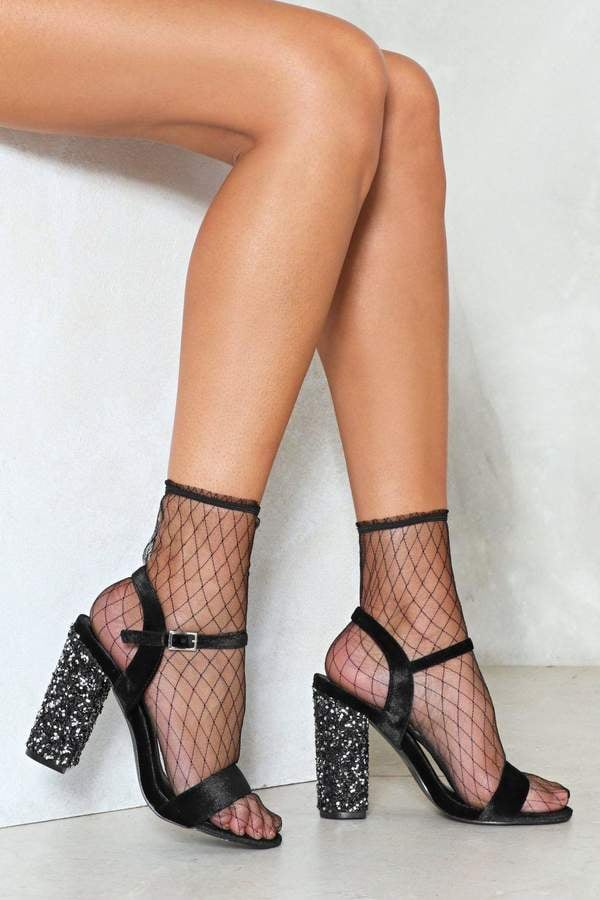Nasty Gal We'll Be Heel For You Glitter Sandal