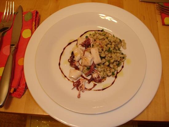 Savory Sights: Squid and Barley Salad