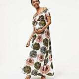 Loft Maternity Marigold Off-the-Shoulder Maxi Dress