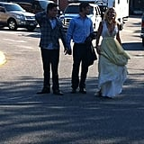 Ed Westwick, Chace Crawford, and Blake Lively filmed Gossip Girl.  Source: Twitter user AllieHecht