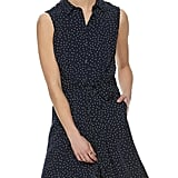 Chiffon Shirt Dress in Highlighted Dots