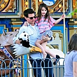 Tom Cruise helped Suri off of a carousel in Pittsburg.