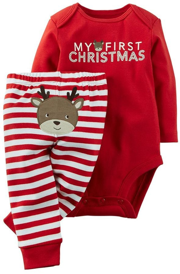 "Carter's Baby"" My First Christmas"" Bodysuit & Pants Set"