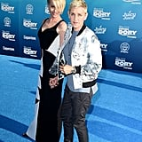 Ellen DeGeneres and Portia de Rossi at Finding Dory Premiere