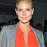 Heidi Klum had a fresh-faced glow at the opening.