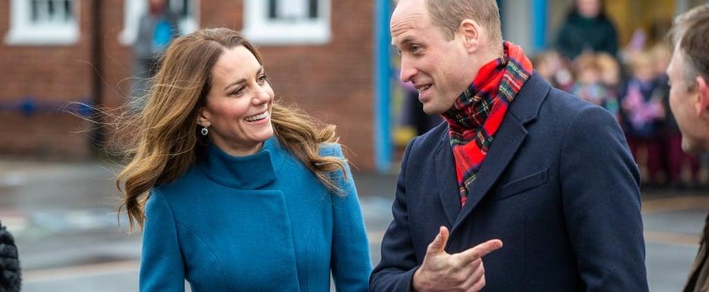 Kate Middleton Re-Wears Her Blue Catherine Walker Coat