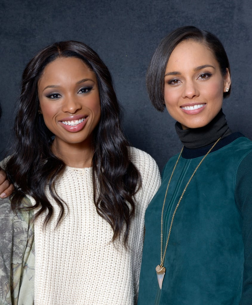 Jennifer Hudson and film producer Alicia Keys glowed while promoting The Inevitable Defeat of Mister and Pete.