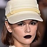 Kaia Gerber's Black Lipstick