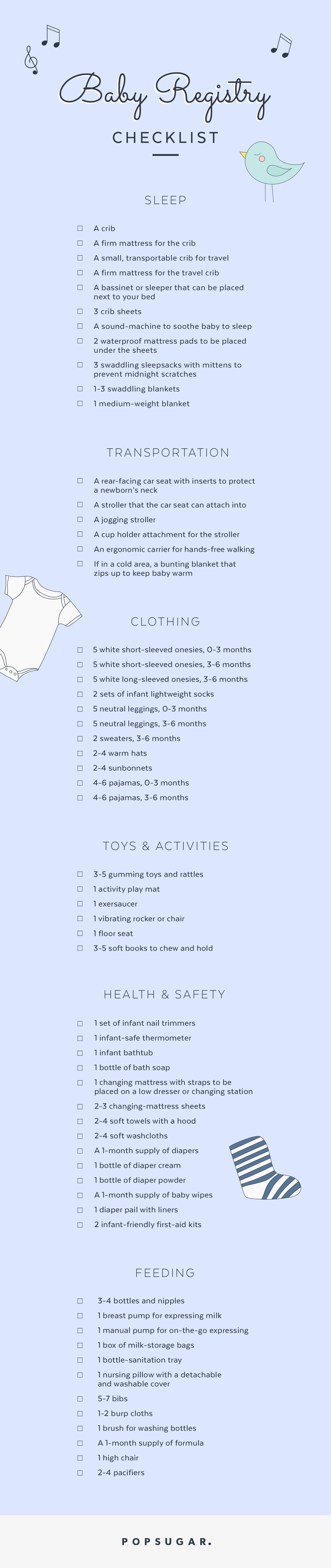 Baby Registry Checklist | POPSUGAR Moms