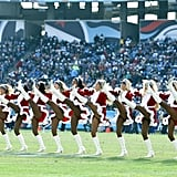 The Tennessee Titans cheerleaders get in the holiday spirit.