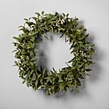 Artificial Lamb Ear and White Berry Wreath ($35)