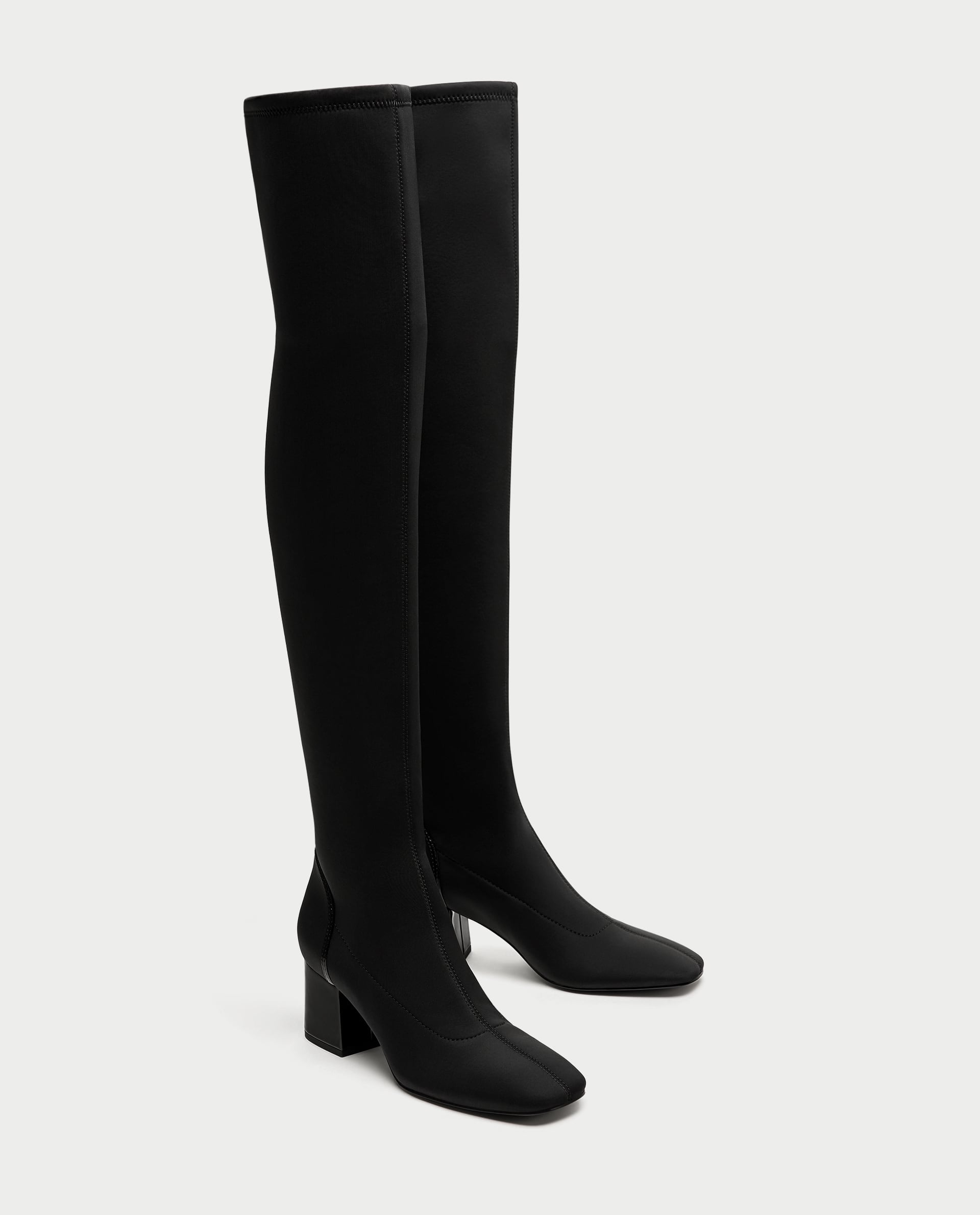 Zara Over-the-Knee Fabric Boots   50