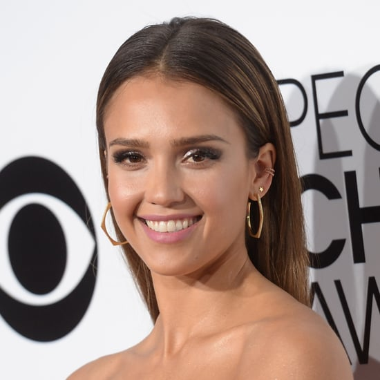 Jessica Alba Hair and Makeup at People's Choice Awards 2014