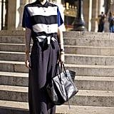 Mix up your black-and-white prints via stripes and polka dots.