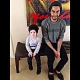 Skyler Berman twinned his mom's colleague, Joey Maalouf, one morning. Source: Instagram user Rachel Zoe
