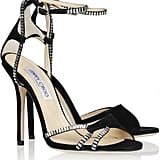 Jimmy Choo Morgan Crystal-Embellished Suede Sandals ($1,095)