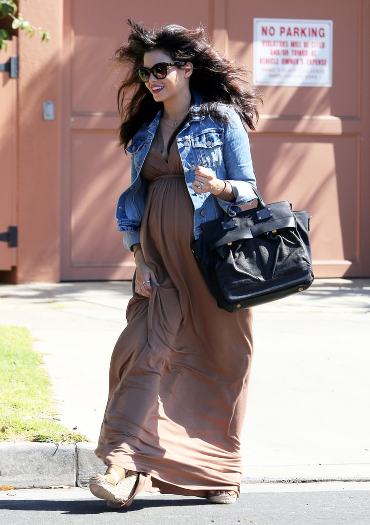 Jenna Dewan smiled in LA on Wednesday.