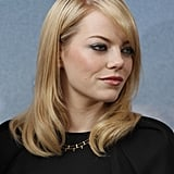 Emma Stone wore her hair down for the Berlin photocall for The Amazing Spider-Man.
