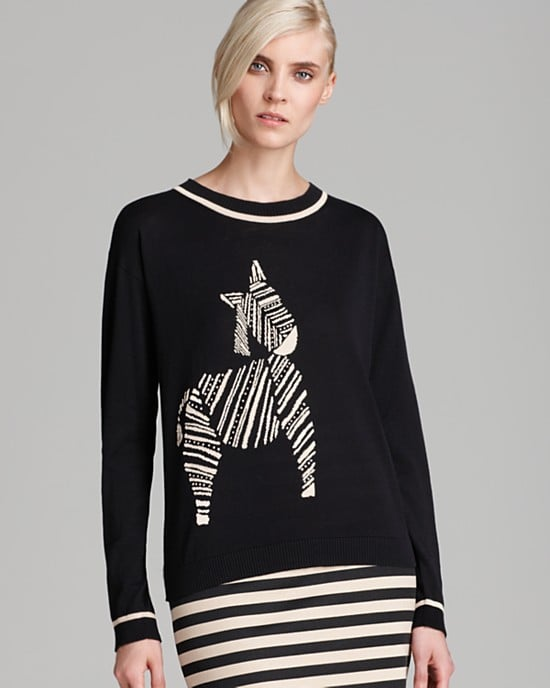 This whimsical Weekend by Max Mara Sweater ($265) would look sweet with your favorite boyfriend jeans on weekends, or cool with a leather pencil skirt for the weekday.