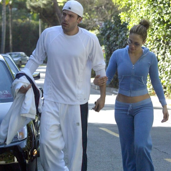 Jennifer Lopez and Ben Affleck Velour Tracksuit Outfit 2003