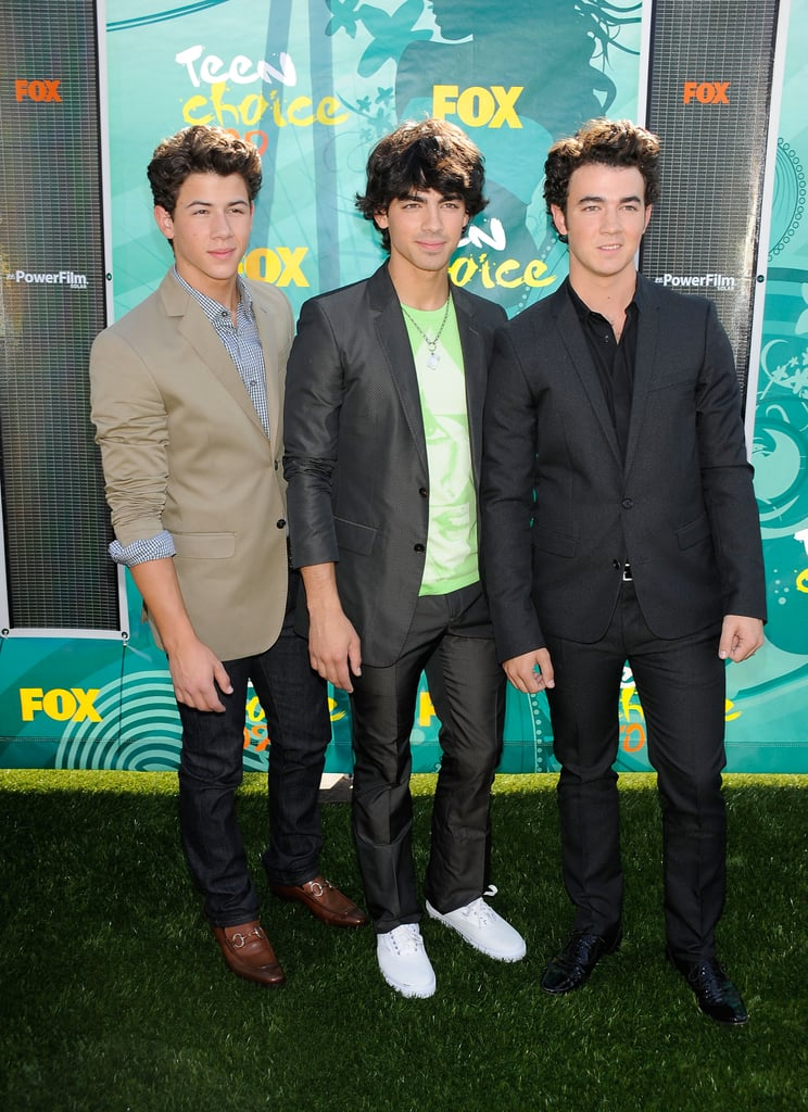 The Jonas Brothers at the Teen Choice Awards in 2009
