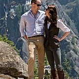 The two had that look of love during their scenic hike in Bhutan in April.