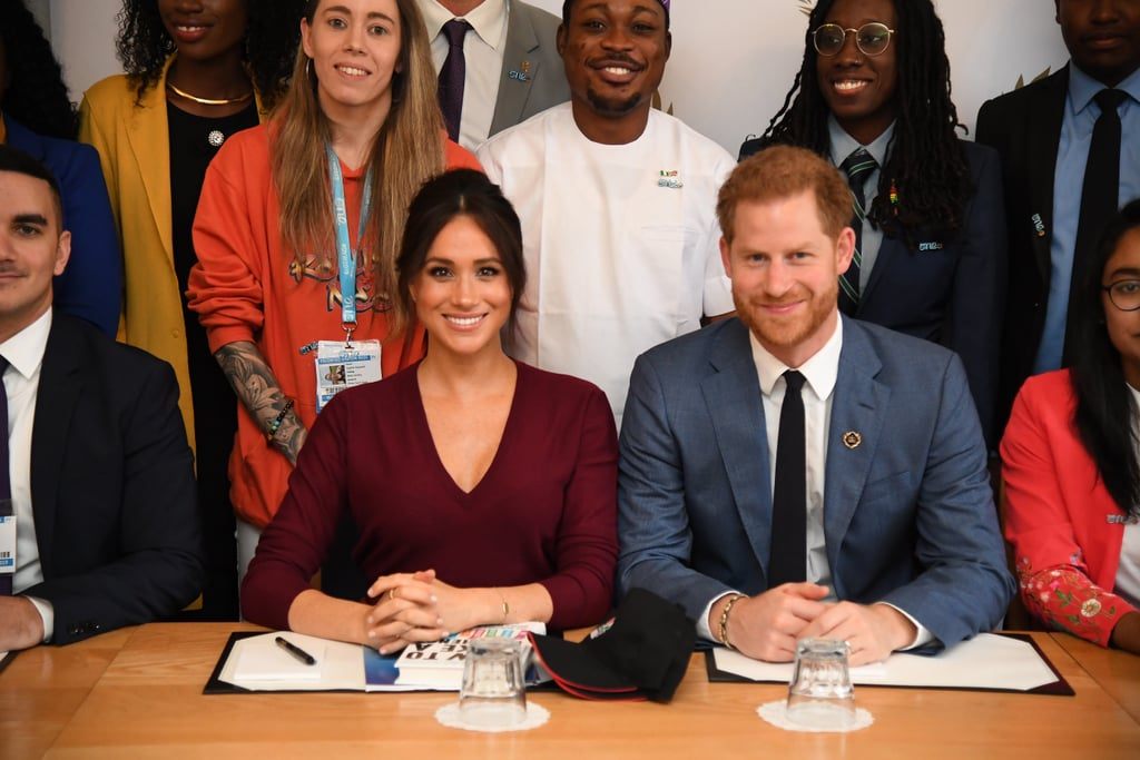 "Meghan Markle and Prince Harry stepped out for their first engagement after the royal tour of Southern Africa (and the subsequent documentary that aired on ITV), and it was a subject that the duchess is extremely passionate about.   On Friday, Meghan attended a roundtable discussion with ambassadors for One Young World, an initiative to support young leaders globally. She was joined by some of the leaders and also Harry, who wasn't initially scheduled to attend. However, as the president for The Queen's Commonwealth Trust — who works in collaboration with One Young World — it made perfect sense that he joined her. The roundtable discussion focussed on the topic of gender equality and inclusion worldwide, as well as the steps they'll take in working together to improve global equality.  Meghan highlighted during the group meeting that ""you can't have a conversation about women's empowerment with just women"", which is one of the reasons for Harry's surprise appearance. She jokingly followed this by saying, ""So for this reason it made complete sense to let [Harry] join today. So thank you for letting him crash the party."" Earlier in the week, Meghan made a special appearance at the One Young World Summit at the Royal Albert Hall where she joined 2,000 young leaders from 190 countries to address the issue of gender equity worldwide.  Ahead, see all of the photos of Meghan and Harry from the important roundtable discussion."