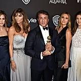 Abgebildet: Sylvester Stallone, Jennifer Flavin, Scarlett Stallone, Sistine Stallone, Stella Stallone