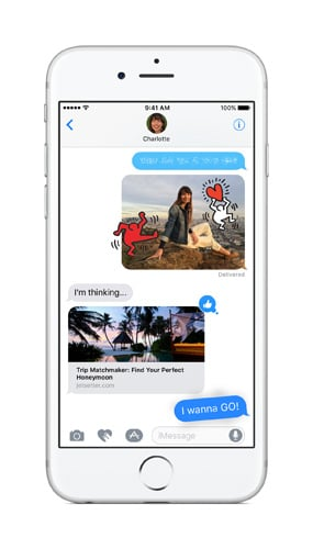 Rich links, fun photos, and bubble effects are now on iMessage.