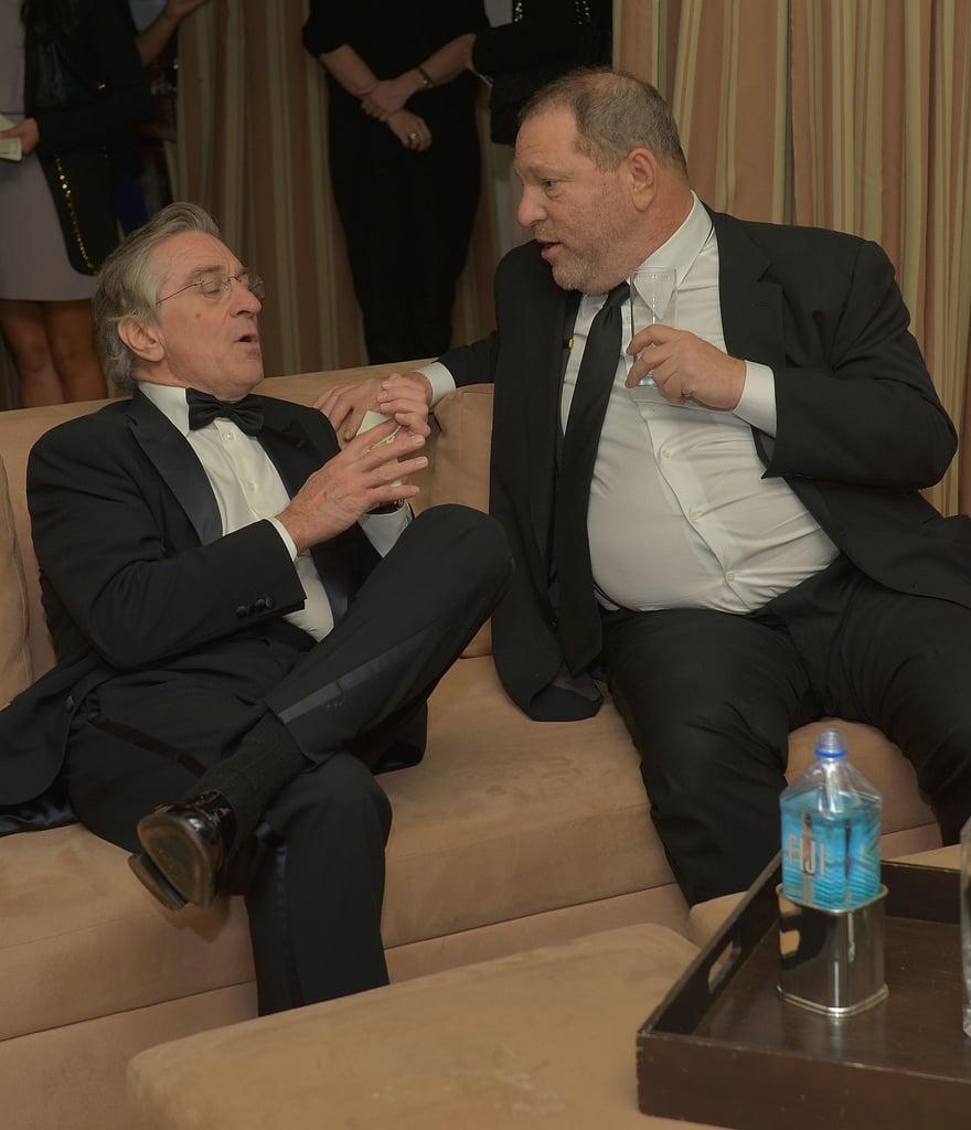 Robert de Niro shared a moment with Harvey Weinstein.