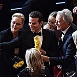 Meryl Streep, Bradley Cooper, Suki Waterhouse, and Clint Eastwood