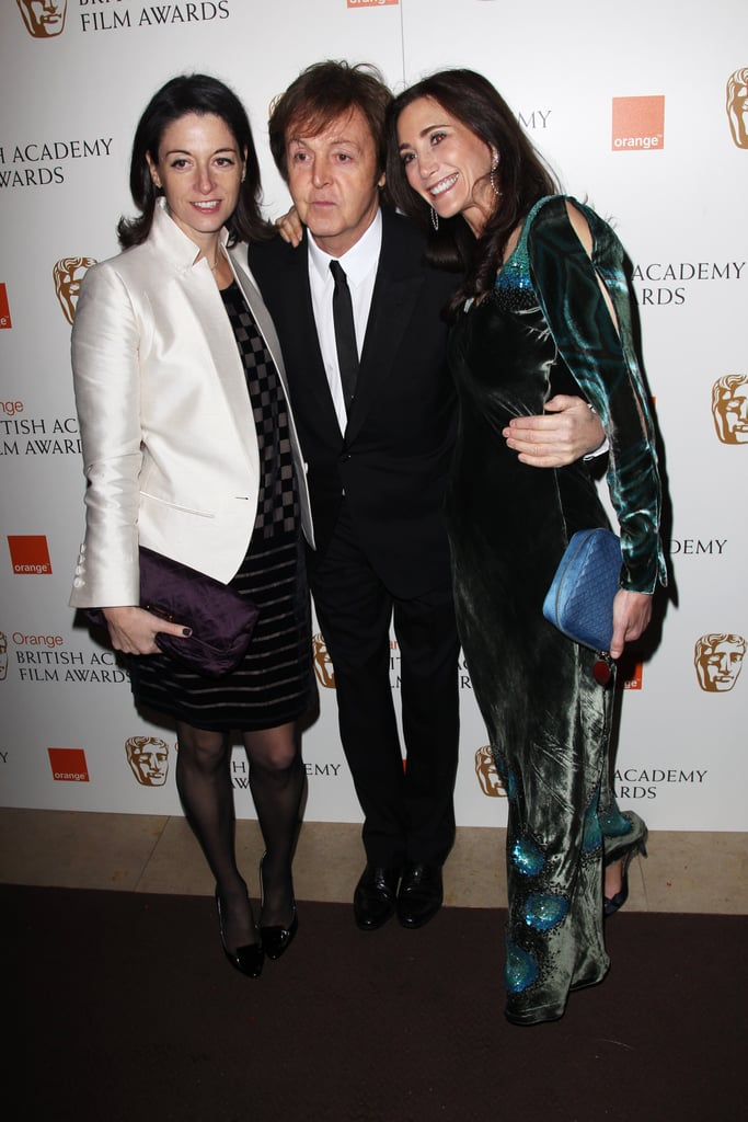 Pictures of Paul McCartney, Mary McCartney, and Nancy Shevell on BAFTAs Red Carpet 2011