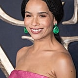 Zoë Kravitz Pink Gown at Fantastic Beasts 2 London Premiere