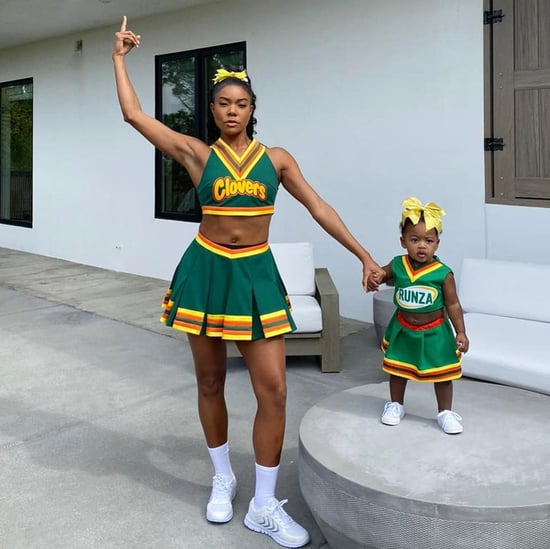 Gabrielle Union and Kaavia Dress as Bring It On Cheerleaders