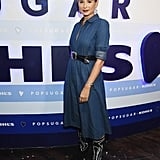 Danielle Bernstein leaned into the Western trend, giving her POPSUGAR Denim Midi Shirt Dress ($68) a little flare with a cowboy-inspired belt and boots.