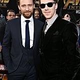 Pictured: Tom Hiddleston and Benedict Cumberbatch