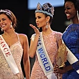 Miss World 2013 blew a kiss to the crowd.