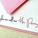 Personalized Wedding Notes
